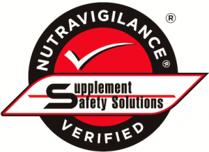 Supplement Safety Solutions Nutravigilance Verified Seal